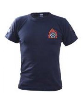 Survivors Μπλουζάκι μακό Πυροσβεστικής με κέντημα φλόγα
