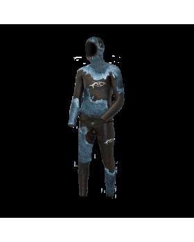 Xt Diving Pro Στολή Λείο/Ξυρισμένο FULL SANTO BLUE WHITE 5mm