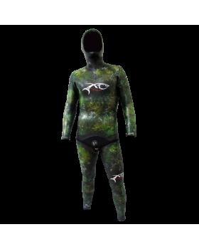 Xt Diving Pro Στολή Λείο/Ξυρισμένο FULL SANTO GREEN WHITE 5mm