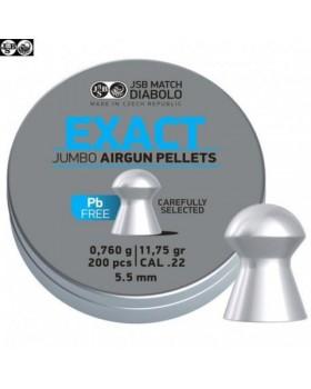 JSB EXACT JUMBO LEAD FREE 5.52/200 (11,75 grains)