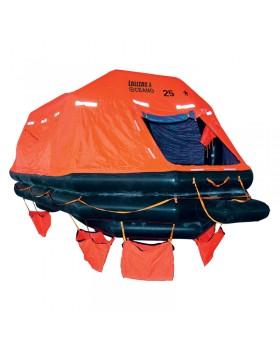 LALIZAS Liferaft SOLAS OCEANO, Ρίψεως Αυτόματα Ανορθούμενου Τύπου, 25 ατομ. κάνιστρο(A)
