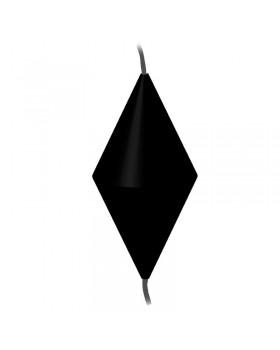 LALIZAS Σήμα ημέρας, ρόμβος, 1200x600mm, μαύρο