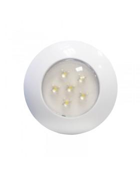 AquaLED Πλαφονιέρα, 6 LEDs, 12V/24V, άσπρη
