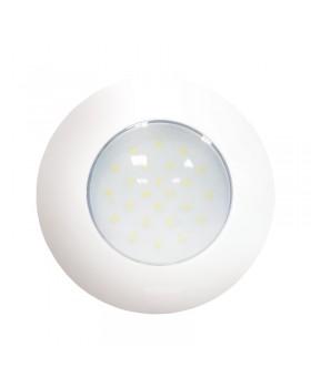 AquaLED Πλαφονιέρα στρογγυλή, άσπρη, με διακόπτη, 4.8W,12/24V DC Multivolt