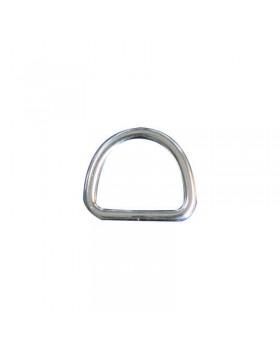 Κρίκος ανάρτησης D-Ring  Inox 316 (Α4), 25x20mm