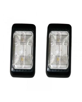 Πλαφονιέρα / Φανάρι Τρέιλερ, 2 LEDs, 12V&24V, μαύρο (σετ 2 τεμ)