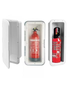 Θήκη για Πυροσβεστήρα 2Kg με πορτάκι, Λευκή