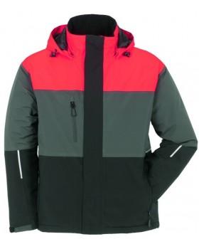 Αδιάβροχο Μπουφάν Aviator Jacket 3755 Κόκκινο/Γκρί/Μαύρο