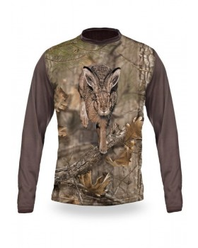 Hare 3D T-Shirt Long Sleeve - 3013