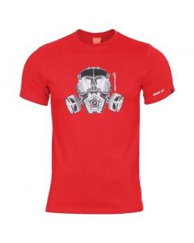 Pentagon-Μπλουζάκι Cotton Gas Mask Red