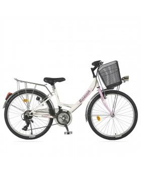 """Ποδήλατο BELDERIA/VISION Elegance 24"""" 21 Ταχυτήτων CITY Άσπρο"""