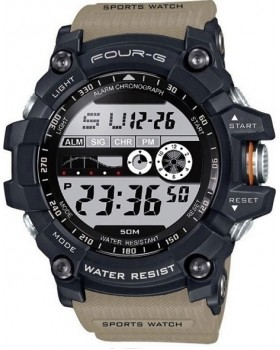 Ρολόι Με Ψηφιακή Ώρα FOURG 333G Μπέζ