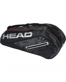Τσάντες Τέννις Tour Team 6R Combi Head Tennis Bags Black / Silver