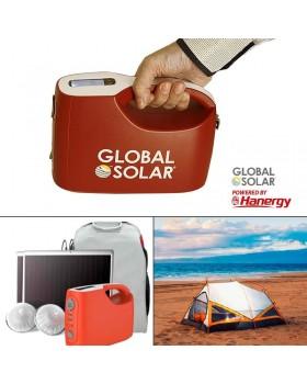 Ηλιακό σύστημα αυτονομίας ρεύματος GLOBAL SOLAR USA με πάνελ φωτοβολταικών 10W και LCD οθόνη
