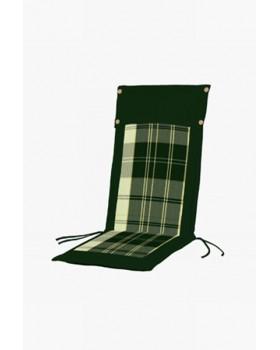 Μαξιλάρι Για Καρέκλα Με Ψηλή Πλάτη 2 Όψεων  Καρώ Πράσινο-Πράσινο Μονόχρωμο