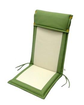 Μαξιλάρι Για Καρέκλα Με Ψηλή Πλάτη 2 Όψεων Εκρού-Χακί