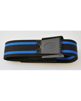 Naylon ζώνη STD μαύρη-μπλε