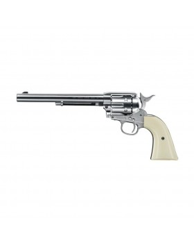 """Umarex Colt SAA .45 Peacemaker - 7.5"""" cal. 4,5 mm (.177) BB - nickel with white grip"""