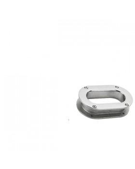 Θυρίδα Αλυσίδας-Σχοινιού Με Καπάκι Inox 241x146mm