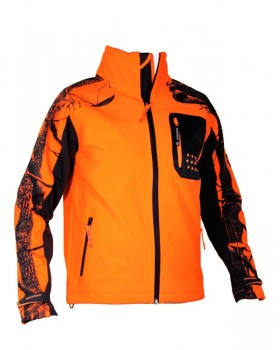 Jacket Univers Softshell Camo/Orange 96011-055