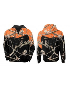 Must Hunt Ζακέτα Κουκούλα Blaze Orange Camo k Nght Realtree