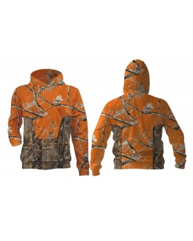 Must Hunt Ζακέτα Κουκούλα Realtree k Orange Realtree