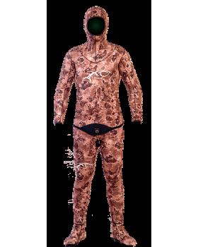Xt Diving Pro-Στολή Φόδρα/Ξυρισμένο 5.5mm-Brown Lycra Yπερελαστικό