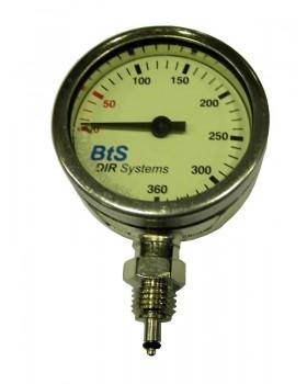 Tusa-Μανόμετρο χωρίς σωλήνα 52mm 360 bar για οξυγόνο