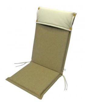 Μαξιλάρι Για Καρέκλα Με Ψηλή Πλάτη 2 Όψεων  Μπεζ-Εκρού