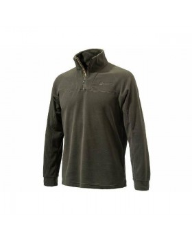 Beretta Half Zip Light Fleece in Green P3311
