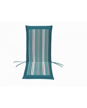 Μαξιλάρι Για Καρέκλα Με Ψηλή Πλάτη 2 Όψεων  Γαλάζιο Ριγέ-Εκρού