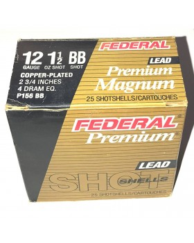FEDERAL PREMIUM COOPERPLATED LEAD BB-SHOT CAL12/70 P156 (43 gr.)