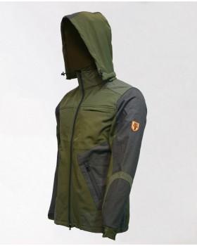Κυνηγετικό Σακάκι 100% Αδιάβροχο Αντιανεμικό Με Αντιθέσεις Γκρι Κevlar LV190