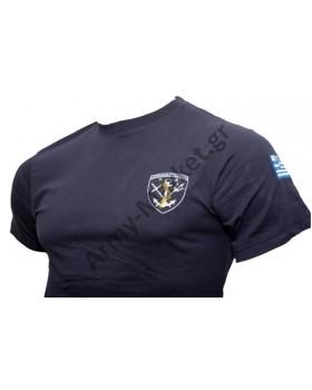 Army Market- Μπλουζάκι Κέντημα Ο.Υ.Κ Φαιοπράσινο GF