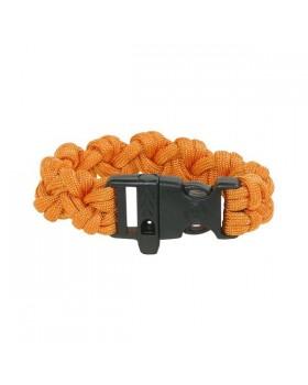 Survival-Paracord Bracelet-Πορτοκαλί Με Σφυρίχτρα