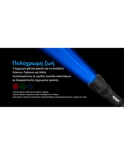 Xtar TZ28 Στρατιωτικός Φακός LED φωτεινότητας 1500lm Full Set