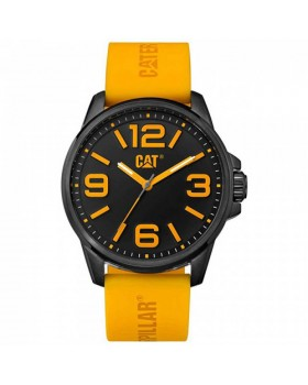 Ρολόι Ανδρικό Caterpillar HAMPTON Black/Yellow - Black silicone NL.161.27.137