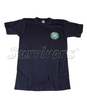 Μπλουζάκι μακό με κέντημα Λιμενικού