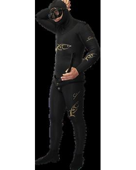 Xt Diving Pro-Στολή Φόδρα/Ξυρισμένο 8mm-Black Lycra Yπερελαστικό