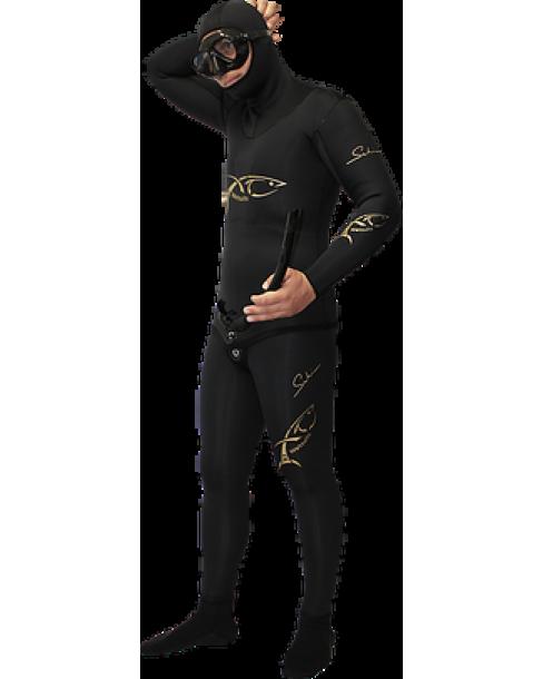 Xt Diving Pro-Στολή Φόδρα/Ξυρισμένο 9mm-Black Lycra Daiwabo