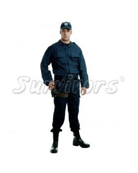 όνSurvivors- Στολή μπλε σατέν σε ύφασμα 65/35 (Παντελι)