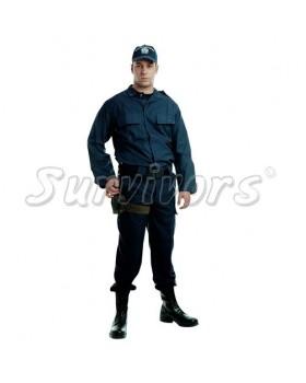 Survivors- Στολή μπλε σατέν σε ύφασμα 65/35 (Χιτώνιο)