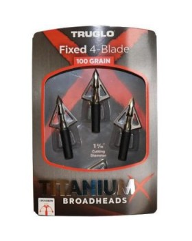 Truglo Titanium Fixed 4 Blade (3pcs) 100 Grain